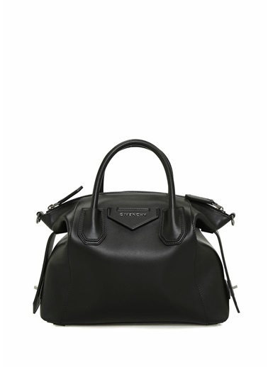 Givenchy Givenchy 101539482 Antigona Small Deri Askılı Kulplu Fermuar Kapatmalı Logolu Kadın Omuz Çantası Siyah
